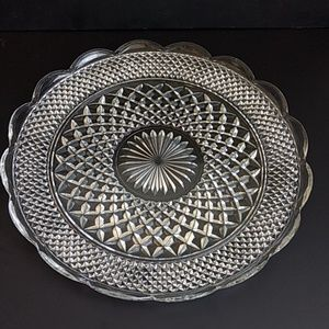 """Other - 14"""" Clear Glass Serving Platter"""
